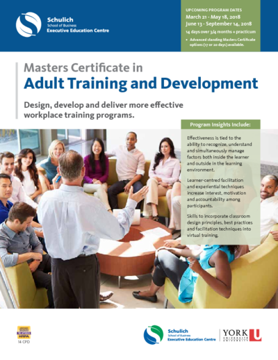 Certificate in adult training